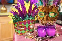 PARTY | Mardi Gras / Ideas for planning a Mardi Grad party or event. #we #events #celebrate #wdm #ames #iowa #centraliowa #mardigras #fattuesday #beads #cajun #gumbo #neworleans #louisiana #racetrack #bighats #derbyhat
