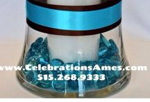 CELEBRATIONS | Our Centerpieces / A sampling of centerpieces available at Celebrations Party & Wedding Store. We provide the centerpiece, you provide the accents and adornments.
