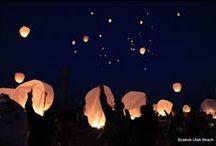 Lâcher de lanternes - Céromonie du 72ème anniversaire du débarquement
