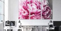 Canvas Wall Art Featuring Flowers / Flowers on canvas
