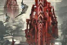 Sci-fi landscapes /  Random Sci-fi landscapes
