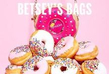 Betsey's Bags / Betsey Johnson's collection of bags including totes, satchels, crossbody, clutches, and wallets. Small accessories include cases for iPhones and iPads.  / by Betsey Johnson