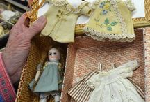 Antique dolls / Made reproduction porcelain dolls during mid nineties, the antiques are still stunning and special.