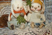 Ellies and bunnies and hares / One day still wants to make bunnies and ellies:)