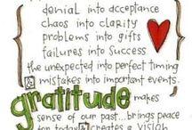 Gratitude / Thank you God
