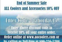 AO Cooler Specials / Shows and Specials