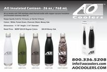 AO Canteen / AO Insulated Canteen A 26 oz. double wall 18/8 stainless steel thermal bottle with copper vacuum insulation and threaded stainless steel lid Keeps liquids Cold for 16 hours, or Hot for 8 Hours.