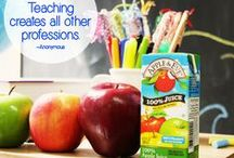 """The Teachers' Lounge / Welcome to """"The Teachers' Lounge""""! A collaborative board created to inspire teachers just like you to connect, share and create. Hosted by Apple & Eve, pins by you! / by Apple & Eve Juice"""