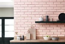 Pink Interior / Pink interior. Design objects in your favourite color to balance the whites in your Scandinavian home.
