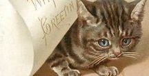 Cats / Printables of cats pics. Vintage projects.