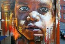murals by Matt Adnate