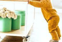 Baby overalls / Handknitted woolen overalls for babies