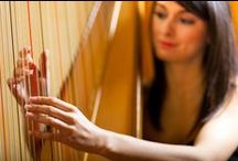 Harpist Hire / Big Time Entertainment have some great Harpists for hire  Harpists are very popular for Hotel Entertainment, Weddings etc  Call (020) 7127 9119 / by Big Time Entertainment Ltd UK