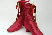 Accessories: 1870s / Hats, Gloves, Parasols, Purses & Shoes