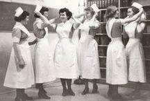 Fotografías de enfermeras / Fotos de enfermeras y servicios de emergencia y enfermeria de los años 1900, 1910, 1920, 1930, 1940, 1950, 1960, 1970