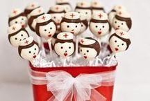 Tartas y Cupcakes de salud / Tartas, galletas, pasteles, capcakes, cakepops y otros dulces para médicos, enfermeras, auxiliares, celadores, fisioterapeutas...
