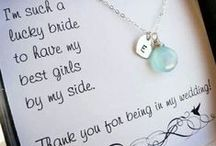 All About the Wedding Party- Bridesmaids & Groomsmen / Gift ideas? Party Ideas? It's all here...