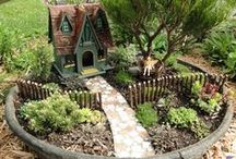 fairy gardens and bird houses