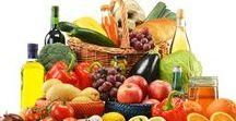 Mediterranean Diet / Healthy food from Mediterranean countries, fish, vegetables, fruits. Italian and European receipts.