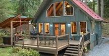 Pet Friendly Cabins / Bring the WHOLE family on vacation!  Pets are welcome in many of Mt. Baker Lodging's private vacation homes - you don't have to leave anyone behind!