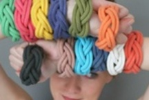 Mare Mia, new collection / Our Mare Mia collection is composed of bracelets and necklaces made of 100% cotton. They are plaited and colored by hand using only natural dyes. All of our products are manufactured with handmade European materials. This makes each item unique and different, meaning that they will differ from one another every so slightly. / by Oh My Hands!