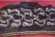 Viking age clothing - embroidery finds / Textile finds with embroideries from Scandinavia during the Viking age.