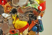 Dario Tironi & Koji Yoshido / Italian artist who creates unique art installations and skulptures out of junk.