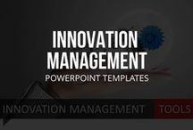 INNOVATION MANAGEMENT // POWERPOINT TEMPLATES / What is innovation management? We're pinning definitions, basics, work sheets, PowerPoint templates, software, technology, processes, systems and strategies. If you fancy using PowerPoint to formulate and present your ideas, we've got you covered. Check out the additional resources as well though, as they will help you gain a deeper understanding of innovation management and how to apply certain strategies in your business.