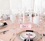 Pink, Black & White Table / Table styling by Elegant Aura