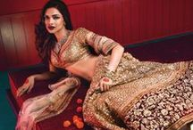 Lehengas, Ghaghra Choli, Chaniya Cholis, Indian Bridal Wear & Shararas / by Purva Desai