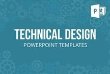TECHNICAL DESIGN // POWERPOINT TEMPLATES / Our modern gearwheel and tachometer designed templates display concepts, business processes and workflows. An analog of interconnected and coordinated elements allow you to easily present mechanical procedures as well as figurative concepts of teamwork and cooperation.