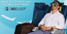 How To Sleep on a plane / Fasten your head belts with the inventive KICKSTARTER funded GOSLEEP mask