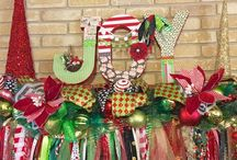 Christmas & Winter Decorations / Christmas Wreaths and other decor by She's Crafty Too. FOLLOW ME AT ETSY www.etsy.com/shop/shescraftytootx    FACEBOOK www.facebook.com/shescaftybyclaranicole   Www.facebook.com/groups/shescraftybyclara  INSTAGRAM @shescraftyclara