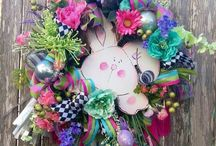 Easter Wreaths / SPRING EASTER Wreaths and other decor by She's Crafty Too. FOLLOW ME AT ETSY www.etsy.com/shop/shescraftytootx    FACEBOOK www.facebook.com/shescaftybyclaranicole   Www.facebook.com/groups/shescraftybyclara   INSTAGRAM @shescraftyclara
