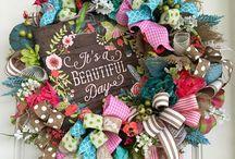 Spring Wreaths & Decor