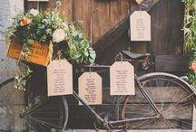 Idées déco plan table/marque place mariage