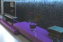 Mosaic Miro / Mesh-mounted stone mosaics.  A beautiful, contemporary look for both floors and walls. #mosaicmiro