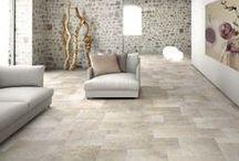 Dordogne / Italian porcelain tile. A timeles classic inspired by French honed limestone. #unicomstarker
