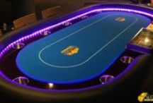 """TRDFC Texas Hold'em Poker Table for hire / Will you be able to bluff your opponent face-to-face at the Texas Hold'em Poker table. A game of skill and composure, poker creates a competitive atmosphere for players as they compete against each other to win a prize or """"the pot"""".   Hire includes: Full-size illuminated Poker table Casino-standard equipment Professional dealer"""