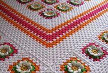 háčkované deky a přehozy / crocheted blankets and bedspreads / zajímavé nápady, inspirace