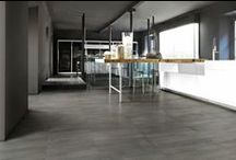 Overall / Italian Porcelain Tile. The look of gently weathered stone in subtle tones. #unicomstarker