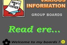 Various information / Welcome to all !!! Here you will find additional information regarding the use of boards. You can rééplingler much as you want ... with common sense and courtesy, in respecting our work. A big thank you to the numerous contributors and followers active... You can also consult THE rule of functioning, very easy  :  https://www.pinterest.com/hardysCorner7/hc-read-me-first-please/ ... also thank you for your understanding and visit. Happy pinning! Admin✿Bernard Hardy :-)