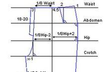 Housun peruskaava - Pattern sloper trousers