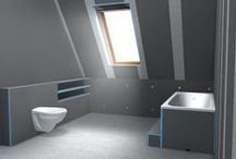 Wedi / Wedi is a 100% waterproof shower system; with the effortless weight of foam and the sturdiness of cement.