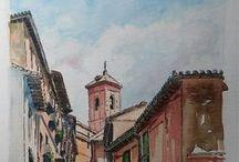 Toledo / dibujos a tinta y acuarela