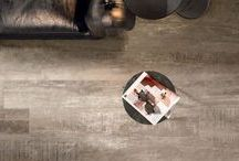 """Dublin / The Dublin series from Flaviker of Italy offers 8""""x48"""" wood-look, porcelain tiles that are flexible and have auto-leveling technology. These tiles can be installed using traditional methods or simply dry lay the tiles without setting materials or joints"""