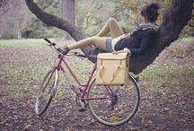 On bikes ...