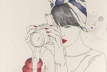 Watercolor / My personal favorite medium / by Célèste Fohl