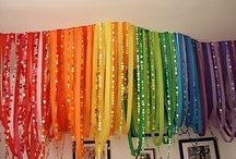 Somewhere over the rainbow weddings / Rainbow wedding inspiration / by Lori Barbely