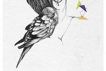 Arte | Ilustração / Desenho, pinturas, colagens